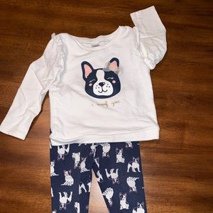 """GENTLY Used Carter's """"I Woof You!"""" Outfit"""